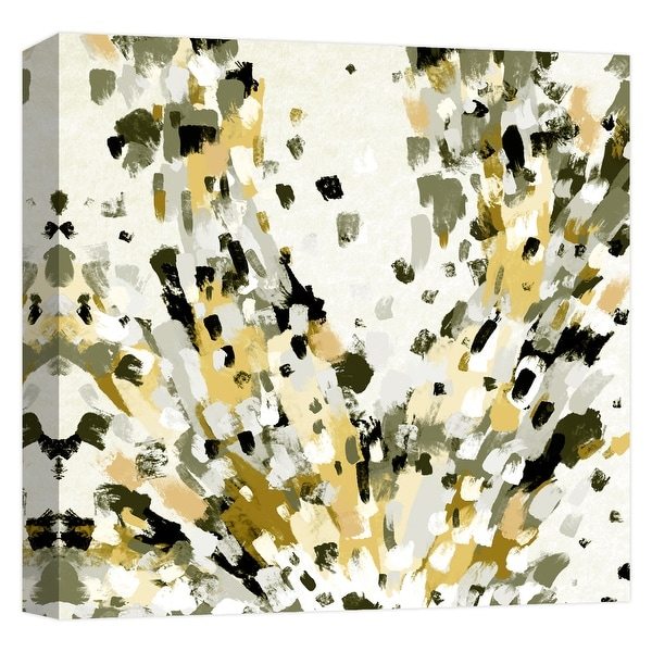 """PTM Images 9-124626 PTM Canvas Collection 12"""" x 12"""" - """"Yellow Abstract Splash"""" Giclee Abstract Art Print on Canvas"""