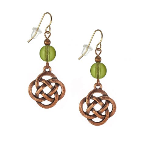 Assorted Colors Handmade Jewerly by Dawn Copper Celtic Knot Earrings