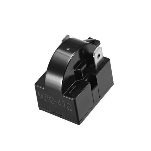 4.7 Ohm 2 Pin Refrigerator PTC Starter Relay Black - 4.7 Ohm 2 Pin