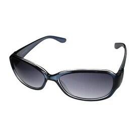 Ellen Tracy Womens Sunglass Plastic Dark Blue Rectangle , Blue Lens ET 503 1