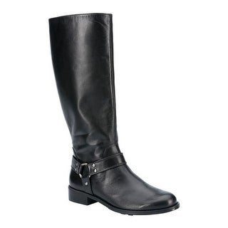 Walking Cradles Women's Kristen Wide Shaft Harness Boot Black Leather