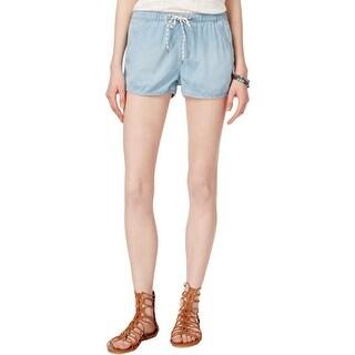 Roxy Womens Juniors Casual Shorts Faded Light Wash