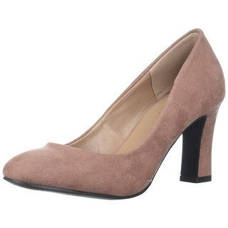 Qupid Women's Low Heel Pump