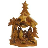 Olivewood Nativity Ornament