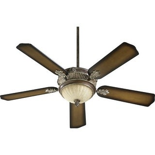 """Quorum International 48525 5 Blade 52"""" 3 Speed 3 Light Ceiling Fan  Light and Blades Included"""