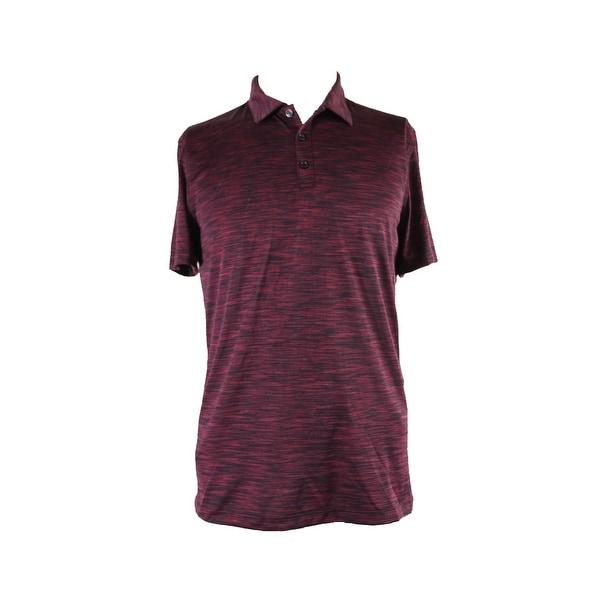 Alfani Port Combo Short-Sleeve Space-Dye Polo Shirt L