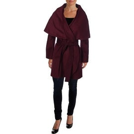 Elie Tahari Womens Marla Wool Oversized Cape Coat - M