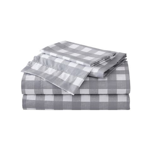 Eddie Bauer Printed Cotton Percale Deep Pocket Sheet Sets