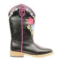 Blazin Roxx Western Boots Girls Juniper Kids Floral Black
