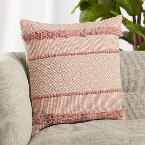 Imena Pink/ Cream Trellis Throw Pillow 20 inch