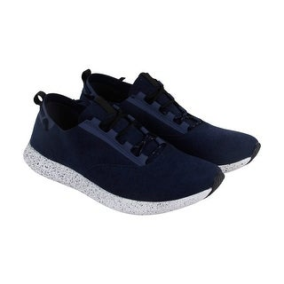 Steve Madden P-Cren Mens Blue Suede Lace Up Sneakers Shoes