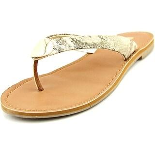 Report Shields Women Open Toe Synthetic Tan Flip Flop Sandal