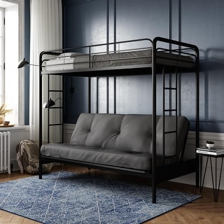 Top Product Reviews For Dhp Twin Over Futon Black Metal Bunk Bed 9459648 Overstock