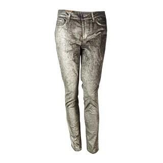 RACHEL Rachel Roy Women's Foiled Skinny Jeans - Grey/Gold - 29