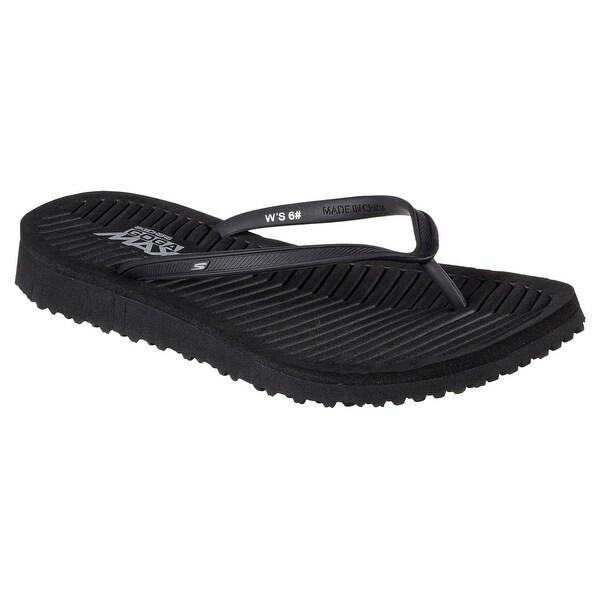 Skechers 14261 BBK Women's GO FLEX-REFRESHING Sandal