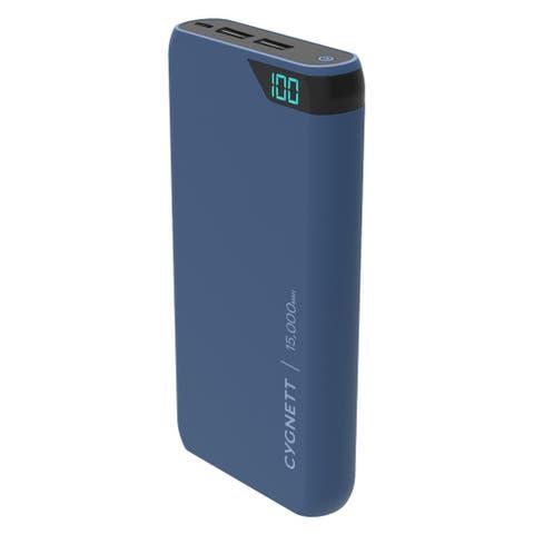 Cygnett Chargeup Boost 15,000 mAh Dual USB 2.4A Power Bank - Navy