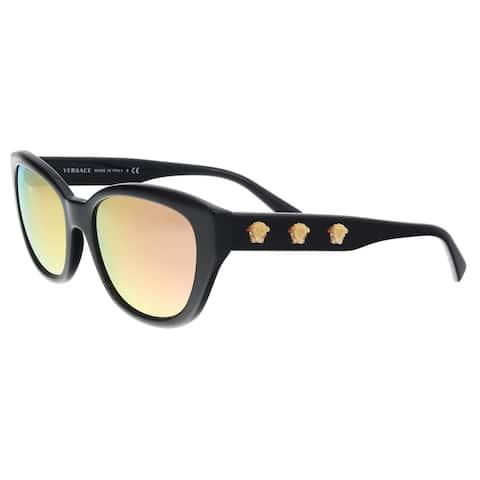 0161c3857a Versace VE4343 GB1 2Y Black Oval Sunglasses - 56-18-140