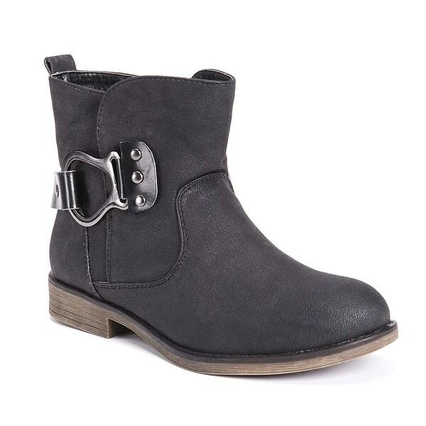MUK LUKS Women's Hayden Bootie Wheeled Heel Shoe