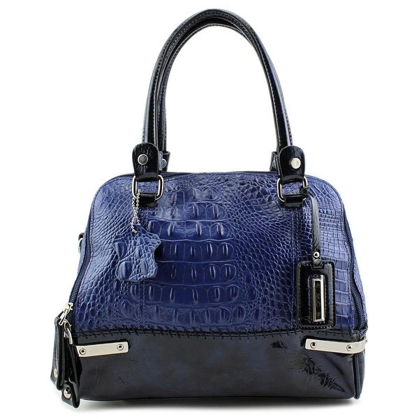 Madi Claire 1234 Women   Leather  Satchel - Blue
