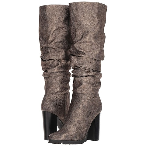 Katy Perry Womens Oniel Leather Pointed Toe Knee High Fashion Boots
