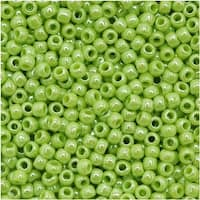 Toho Round Seed Beads 11/0 131 'Opaque Lustered Sour Apple' 8 Gram Tube