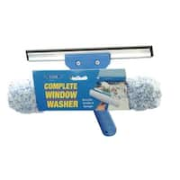 Ettore 15010 Squeegee & Scrubber Complete Window Washer, 10""