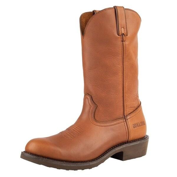"Durango Work Boots Mens 12"" SPR Leather Farm Ranch Plow Tan"