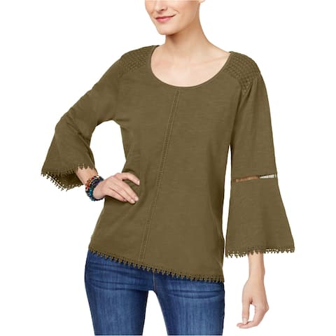 Style&Co. Womens Embroidered Basic T-Shirt