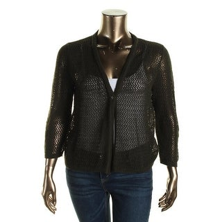 Jones New York Womens Solid Long Sleeves Cardigan Sweater - M