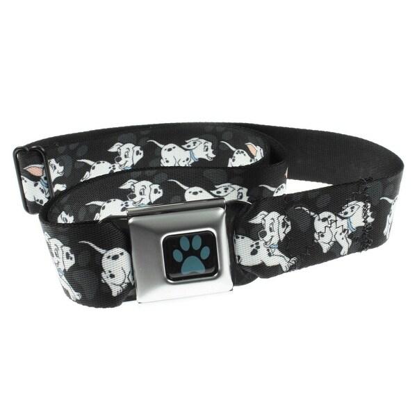 101 Dalmatians-Dalmatians Running Seatbelt Belt-Holds Pants Up