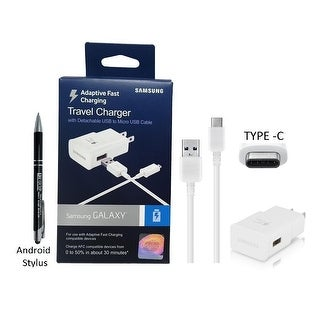 Official Samsung AFC Adaptive Fast Wall/Travel Charger with Type C USB & MKK Stylus Pen - for Galaxy S8/S8+ Tab S3