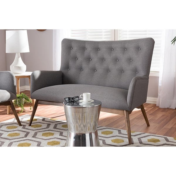 Waldmann Grey Fabric Upholstered Loveseat
