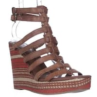 Lucky Brand Labelle Wedge Sandals, Almond Combo - 9.5 us / 39.5 eu