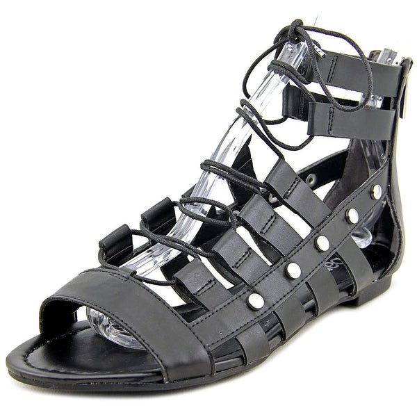 Bar III Reese Women Open Toe Synthetic Black Gladiator Sandal