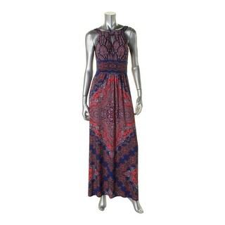 London Times Womens Casual Dress Paisley Halter - 2