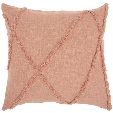 "Mina Victory Distressed Diamond Throw Pillow 18"" x 18"""
