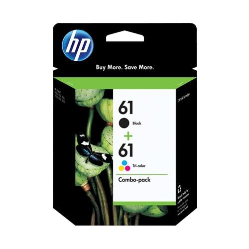 HP 61 Black & Tri-Color Original 2 Ink Cartridges (CR259FN)(Single Pack)