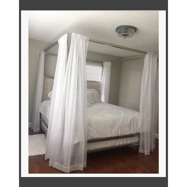 solivita kingsize canopy chrome metal poster bed by inspire q bold free shipping today