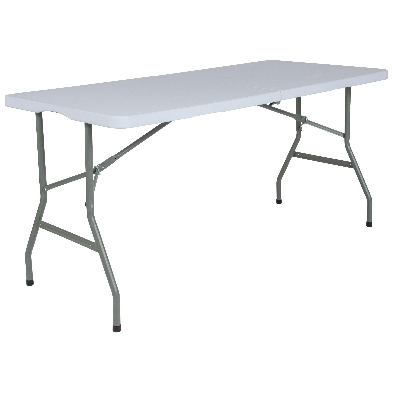 - Shop 5-Foot Bi-Fold Granite White Plastic Folding Table With