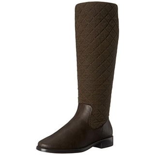 Aerosoles Womens Establish Riding Boots Quilted Knee-High