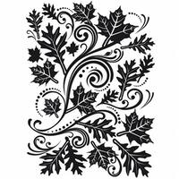 Darice  Embossing Folder 4.25 in.X5.75 in.-Fall Leaf Background