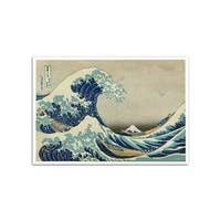 The Great Wave off Kanagawa - Hokusai - Most Expensive Paintings - 24x17 Poster