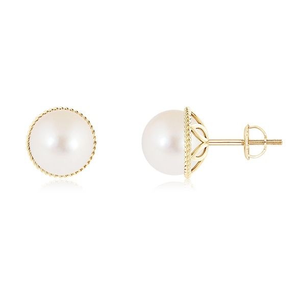 Angara Solitaire Freshwater Cultured Pearl Leverback Earrings yxlIbrn
