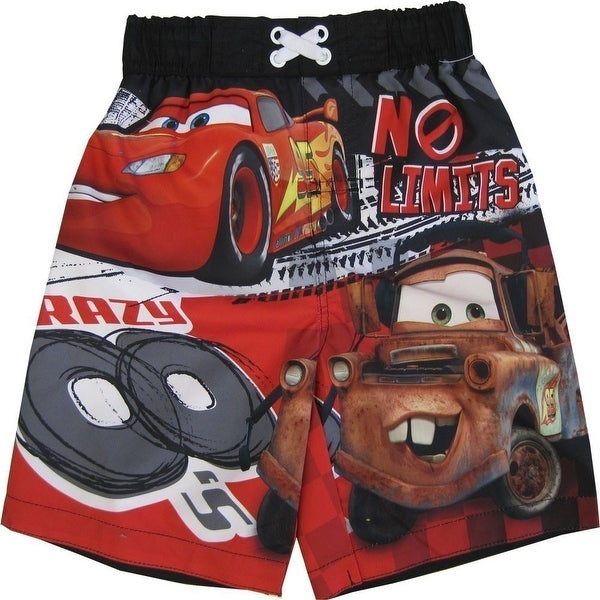 3b3436027f161 Shop Thomas And Friends Little Boys Red Blue Cartoon Print UPF 50+ Swim  Shorts - Free Shipping On Orders Over $45 - Overstock - 18165619