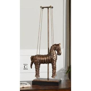 "34"" Stedman Horse Copper Bronze Sculpture"