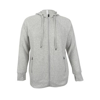 Ideology Women's Plus Size Hoodie - Heather Grey