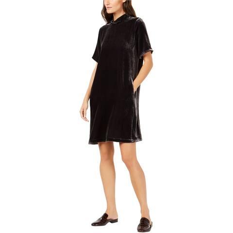 Eileen Fisher Womens Velvet Tie Back Shift Dress