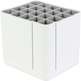 "White; 4.4""Wx4.3""Hx4""D - Deflecto Interlocking Marker Organizer"
