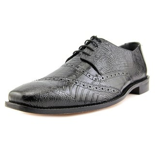 Stacy Adams Garzon Men W Round Toe Leather Black Oxford