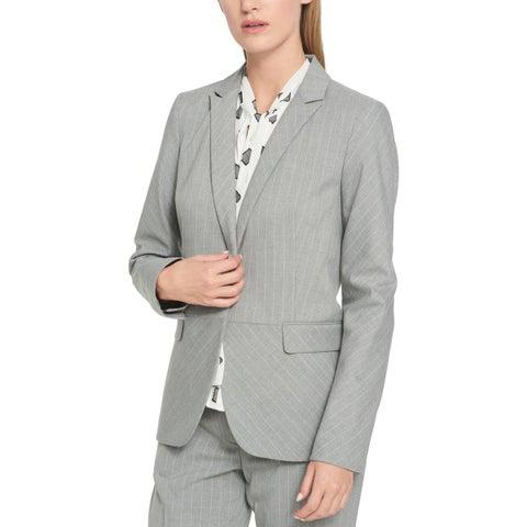 Tommy Hilfiger Womens Peplum Jacket Pinstripe Work Wear